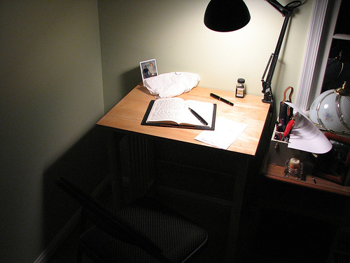 """My """"Seven Swords"""" Novel Writing Nook. Photo by Mike Shea"""
