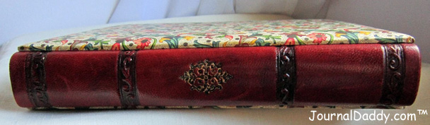 Italian photo album - hardback and bound in classic Florentine paper, with a leather spine.
