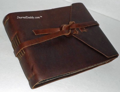 Rustico Leather Field Leather Photo Album, Flap-tie
