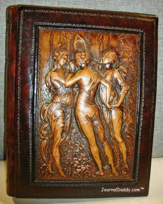 Eccolo Three Graces Album, Made in Italy - Cover depicts the three graces, representing beauty, charm and joy.