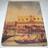 Leather journal with Venice scene