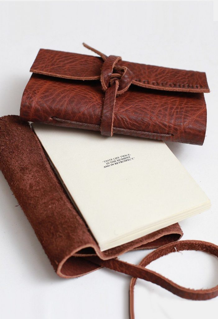 Pocket Size Profound Aesthetic Genuine Leather Notebook Journal