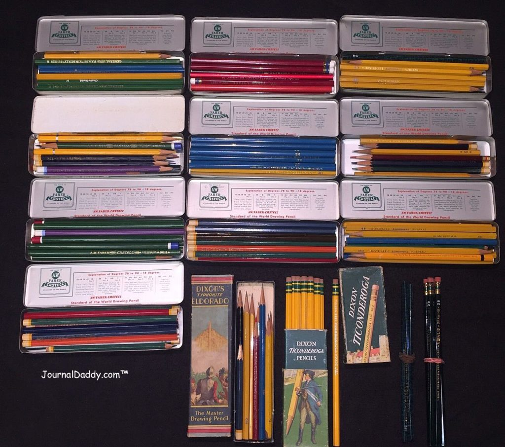 Cache of over 150 vintage pencils