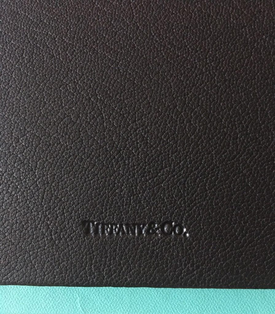 Authentic Tiffany & Co. Black Leather Diary Journal. Comes with Blue Box.