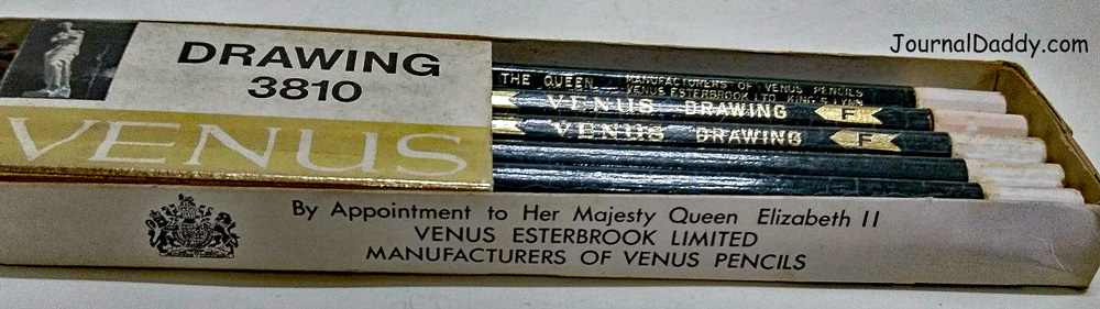 Venus Pencil crackle green graphite drawing pencil Made in England BY APPOINTMENT TO HER MAJESTY THE QUEEN