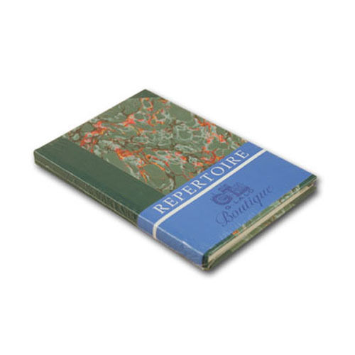 G Lalo Marbled Address Book in Green