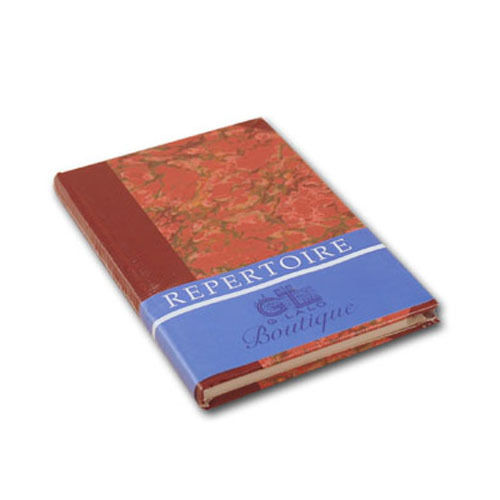 G Lalo Marbled Address Book in Red