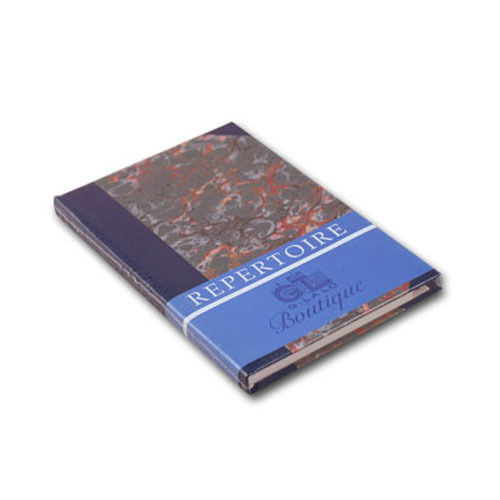G. Lalo Marbled Address Book in Blue